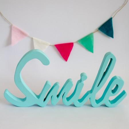Letra Smile Turquesa