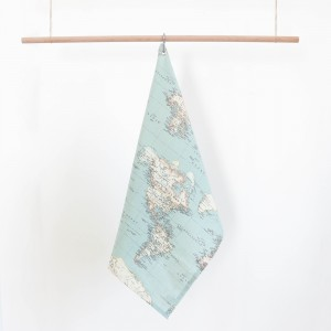 World map dishcloth