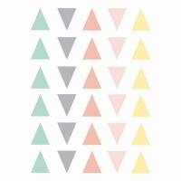 Vinilos triángulos pastel
