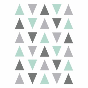 Grey and mint triangles vinyl
