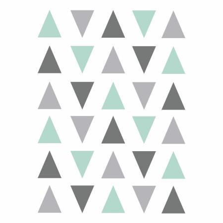 Vinilos gris mint triángulos