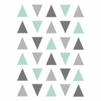 Vinilos triángulos gris mint