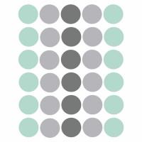 Vinilos lunares gris mint