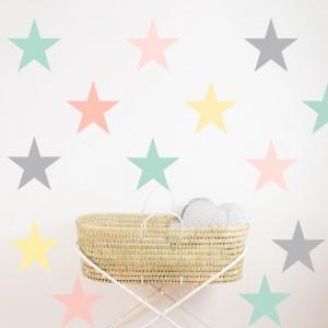 Pastel Stars vinyl 22x22
