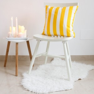 Yellow stripes cushion