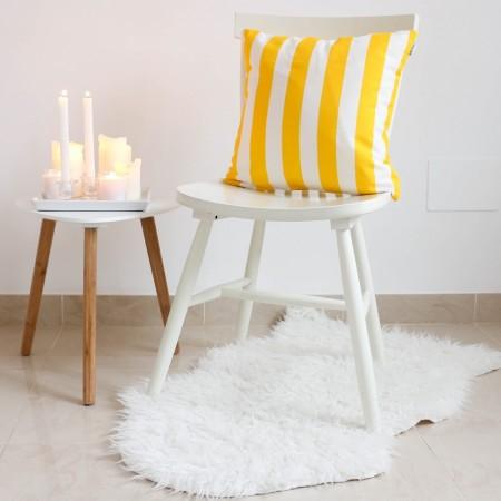 Yellow stripes cushion