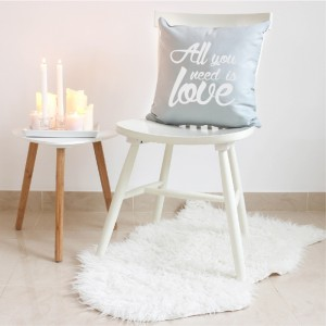 Grey All you need is love cushion