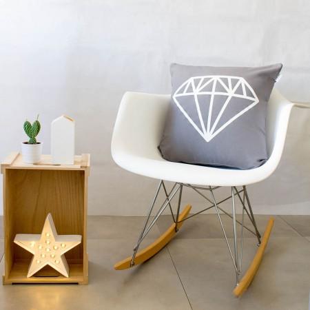 Funda de cojín Diamante Gris