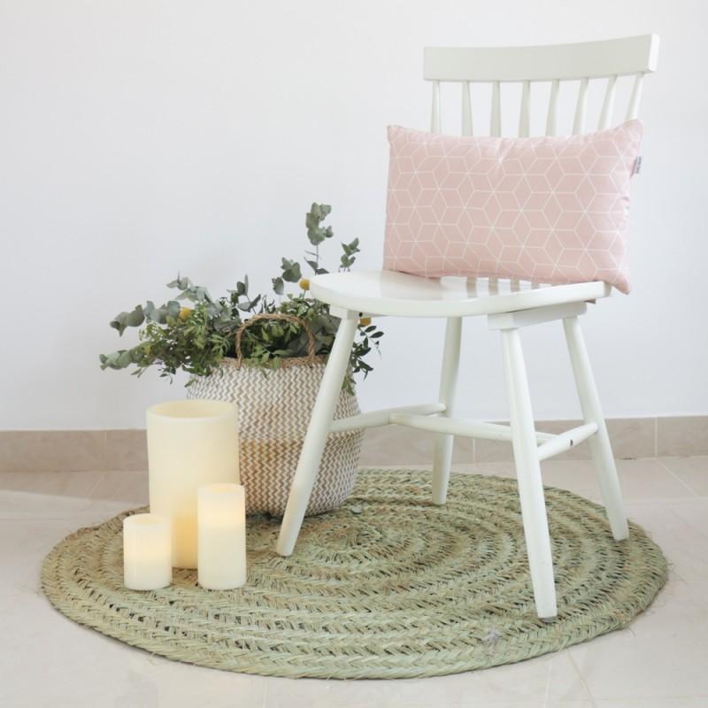 Comprar funda coj n hygge rosa ideal para decorar tu for Funda cojin 30x50