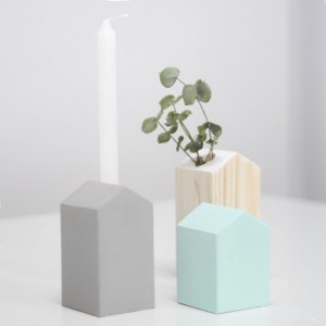 Pack 2 Casitas madera gris y mint