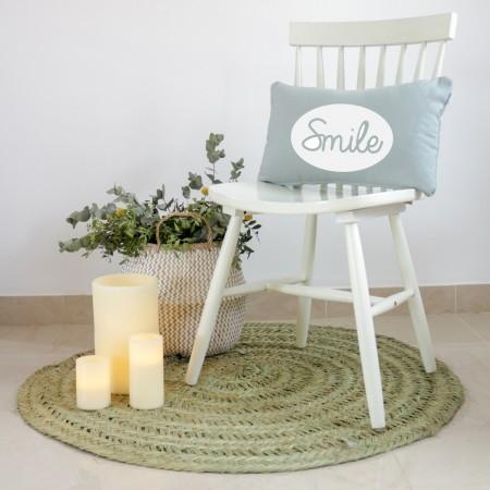 Grey Smile cushion