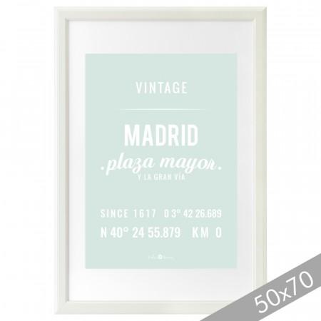Lámina Madrid mint XXL