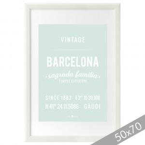 Lámina Barcelona mint XXL