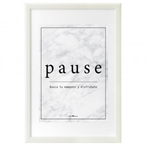 Cardboard Pause marble white
