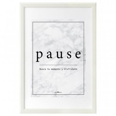 Lámina Pause mármol blanco