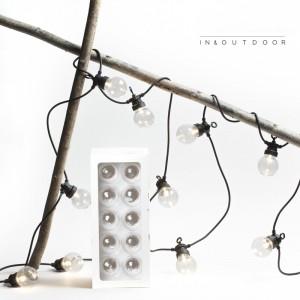 Guirnalda de bombillas transparente