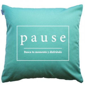 Mint Pause cushion