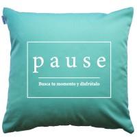 Mint Pause cushion