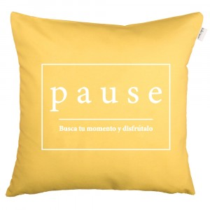 Funda de cojín Pause amarillo