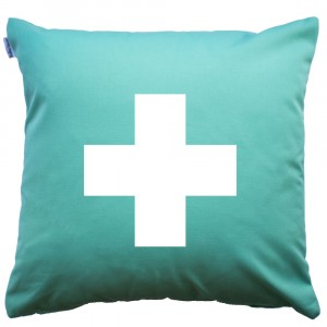 Mint Cross cushion