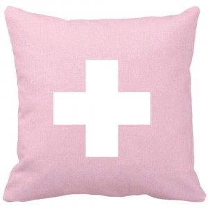 Pink quartz Cross cushion