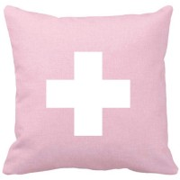 Pink quartz Cross cushion