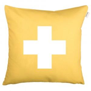 Funda de Cojín Cruz amarillo