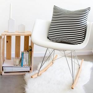 Black Stripes cushion