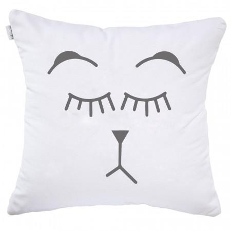 White Ampersand cushion