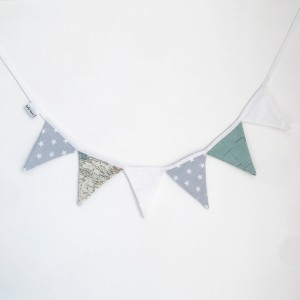 World map pennants garland