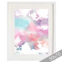 Watercolor Happyness cardboard XXL
