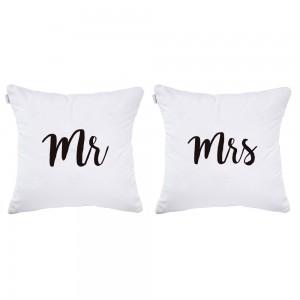 Pack fundas de cojín Mr & Mrs