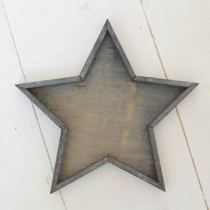 Star wooden tray