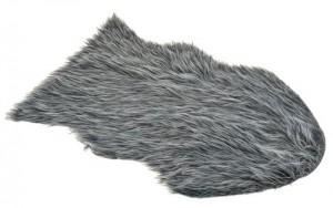 Alfombra de pelo gris
