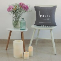 Grey Pause cushion
