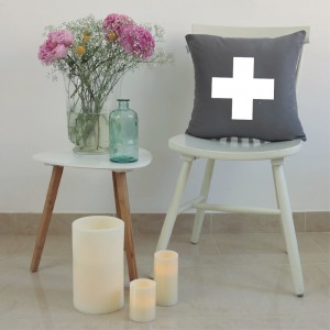 Grey Cross cushion