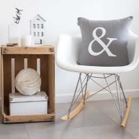 Grey Ampersand cushion