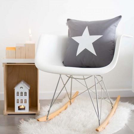 Grey star cushion