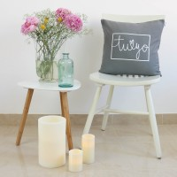 Grey You and Me design cushion