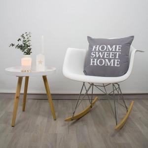 Funda cojín Home Sweet Home gris