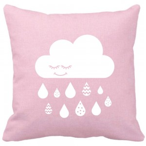 Baby pink cloud cushion