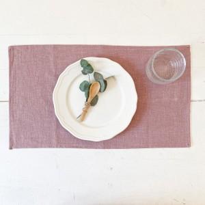 Mantel individual lino rosa (pack 2)