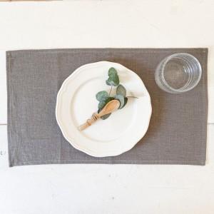 Mantel individual lino gris (pack de 2)