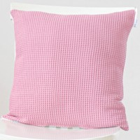 Pink Waffle Cushion Cover