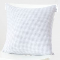 Grey Waffle Cushion Cover