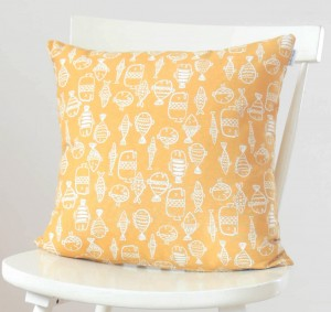 Mustard star cushion