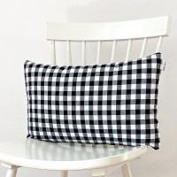Black gingham cushion 30x50