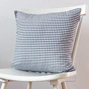 Grey gingham cushion 45x45