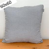 Funda Cojín vichy gris 60x60
