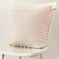 Beige gingham cushion 45x45